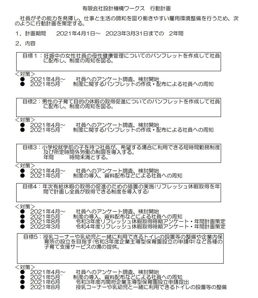 ワークス_行動計画
